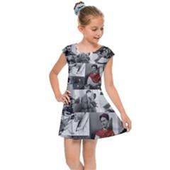 Frida Kahlo Pattern Kids Cap Sleeve Dress