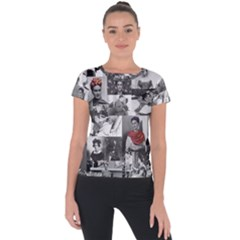 Frida Kahlo Pattern Short Sleeve Sports Top