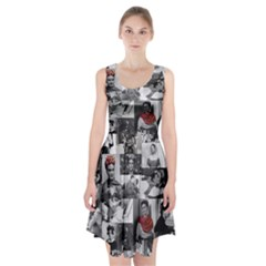 Frida Kahlo Pattern Racerback Midi Dress