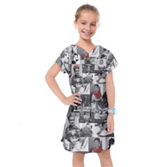 Frida Kahlo Pattern Kids  Drop Waist Dress