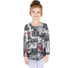 Frida Kahlo Pattern Kids  Long Sleeve Tee