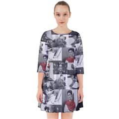 Frida Kahlo Pattern Smock Dress