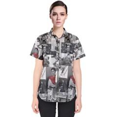 Frida Kahlo Pattern Women s Short Sleeve Shirt