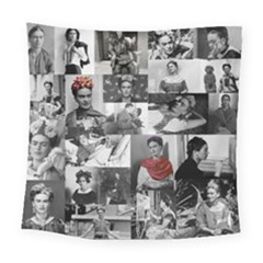 Frida Kahlo Pattern Square Tapestry (large)