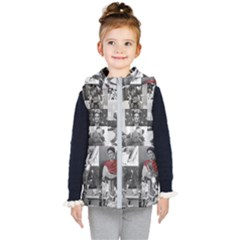 Frida Kahlo Pattern Kid s Hooded Puffer Vest