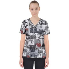 Frida Kahlo Pattern Scrub Top