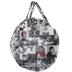 Frida Kahlo Pattern Giant Round Zipper Tote