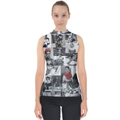 Frida Kahlo Pattern Shell Top