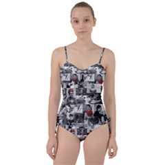Frida Kahlo Pattern Sweetheart Tankini Set
