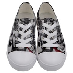 Frida Kahlo Pattern Kids  Low Top Canvas Sneakers