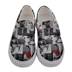 Frida Kahlo Pattern Women s Canvas Slip Ons