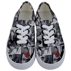 Frida Kahlo Pattern Kids  Classic Low Top Sneakers
