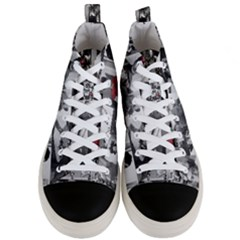 Frida Kahlo Pattern Men s Mid Top Canvas Sneakers