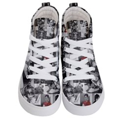 Frida Kahlo Pattern Kid s Hi Top Skate Sneakers