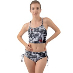 Frida Kahlo Pattern Mini Tank Bikini Set