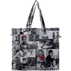 Frida Kahlo Pattern Canvas Travel Bag