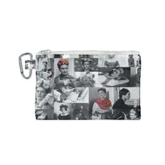 Frida Kahlo Pattern Canvas Cosmetic Bag (small)