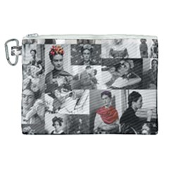 Frida Kahlo Pattern Canvas Cosmetic Bag (xl)