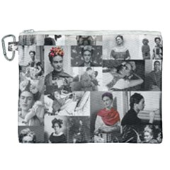 Frida Kahlo Pattern Canvas Cosmetic Bag (xxl)
