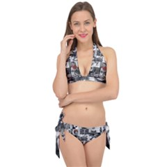 Frida Kahlo Pattern Tie It Up Bikini Set