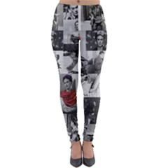 Frida Kahlo Pattern Lightweight Velour Leggings