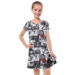 Frida Kahlo Pattern Kids  Cross Web Dress