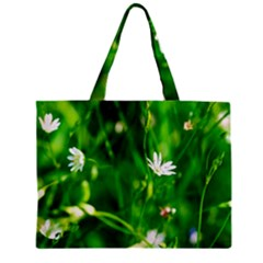 Inside The Grass Zipper Mini Tote Bag by FunnyCow
