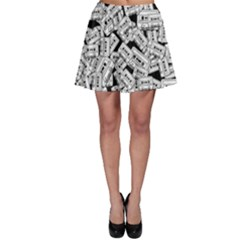 Audio Tape Pattern Skater Skirt