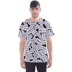 Audio Tape Pattern Men s Sports Mesh Tee