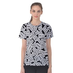 Audio Tape Pattern Women s Cotton Tee