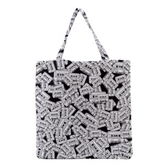 Audio Tape Pattern Grocery Tote Bag