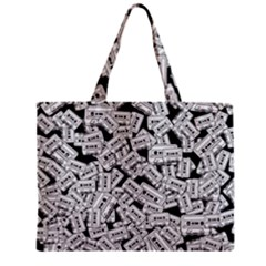 Audio Tape Pattern Mini Tote Bag