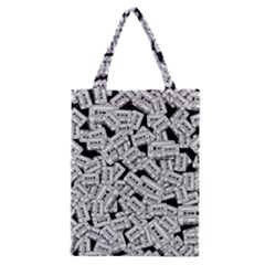 Audio Tape Pattern Classic Tote Bag