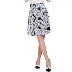 Audio Tape Pattern A Line Skirt