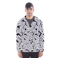 Audio Tape Pattern Hooded Windbreaker (men)