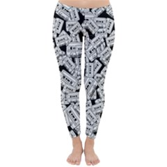 Audio Tape Pattern Classic Winter Leggings