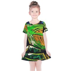 Lillies In The Terracota Vase 5 Kids  Simple Cotton Dress