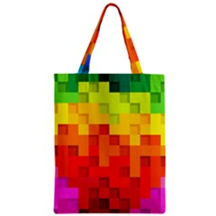 Abstract Background Square Colorful Zipper Classic Tote Bag