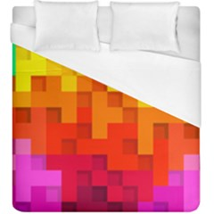 Abstract Background Square Colorful Duvet Cover (king Size) by Nexatart