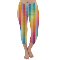 Background Colorful Abstract Capri Winter Leggings