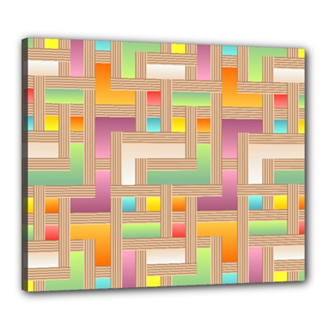 Abstract Background Colorful Canvas 24  X 20