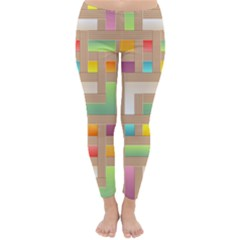 Abstract Background Colorful Classic Winter Leggings