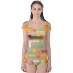 Abstract Background Colorful Boyleg Leotard