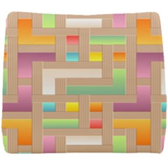 Abstract Background Colorful Seat Cushion by Nexatart