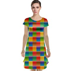 Background Colorful Abstract Cap Sleeve Nightdress