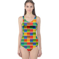 Background Colorful Abstract One Piece Swimsuit