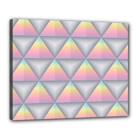 Background Colorful Triangle Canvas 20  X 16