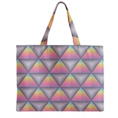 Background Colorful Triangle Zipper Mini Tote Bag