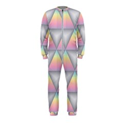 Background Colorful Triangle Onepiece Jumpsuit (kids)