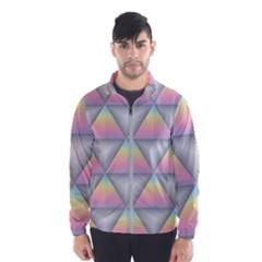 Background Colorful Triangle Windbreaker (men)